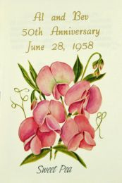 Sweet Pea Anniversary Seed Packet Favor