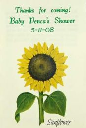 Sunflower Baby Shower Seed Favor