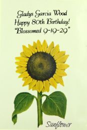Sunflower Birthday Favor