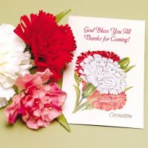 Carnation Seed Packet Favor