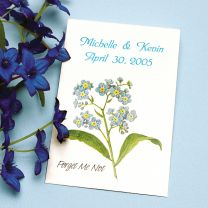Forget Me Not Seed Packet Favor