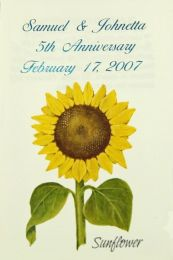 Sunflower Anniversary Seed Packet